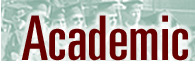 Graphic logo of Academic header