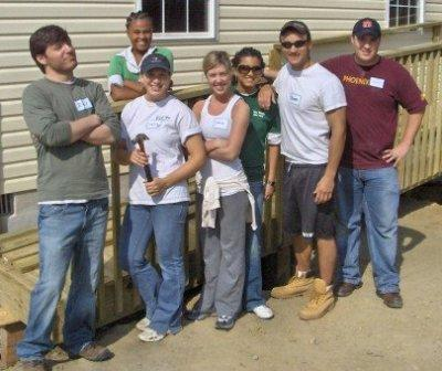 Volunteer work for Habitat for Humanity