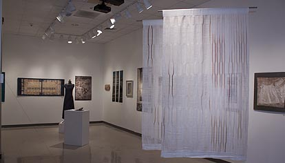 Installation view of Fabulous Fibers 4 exhibition.  Photo courtesy of LM Wood