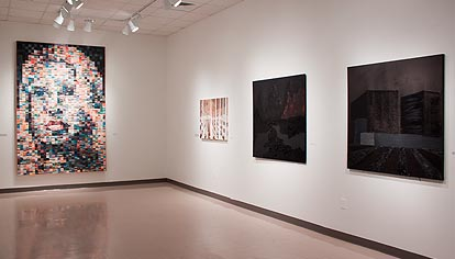 Installation view of BA Senior Thesis Exhibition at Elon University, 2012.  Photo courtesy of LM Wood