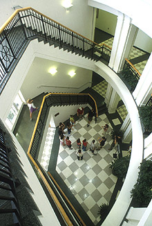 Photo of the Lobby of the Dalton L. McMichael Sr. Science Center.