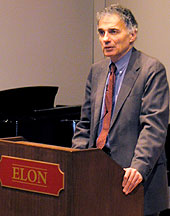 Ralph Nader speaking on campus