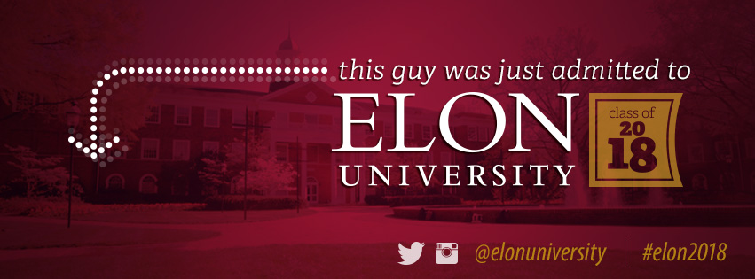 This guy was just admitted to Elon University class of 2018