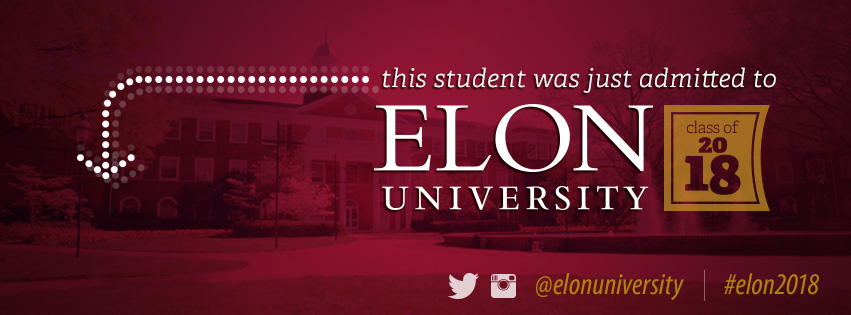 This student was just admitted to Elon University class of 2018