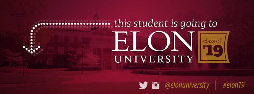This student is going to Elon University class of 2019