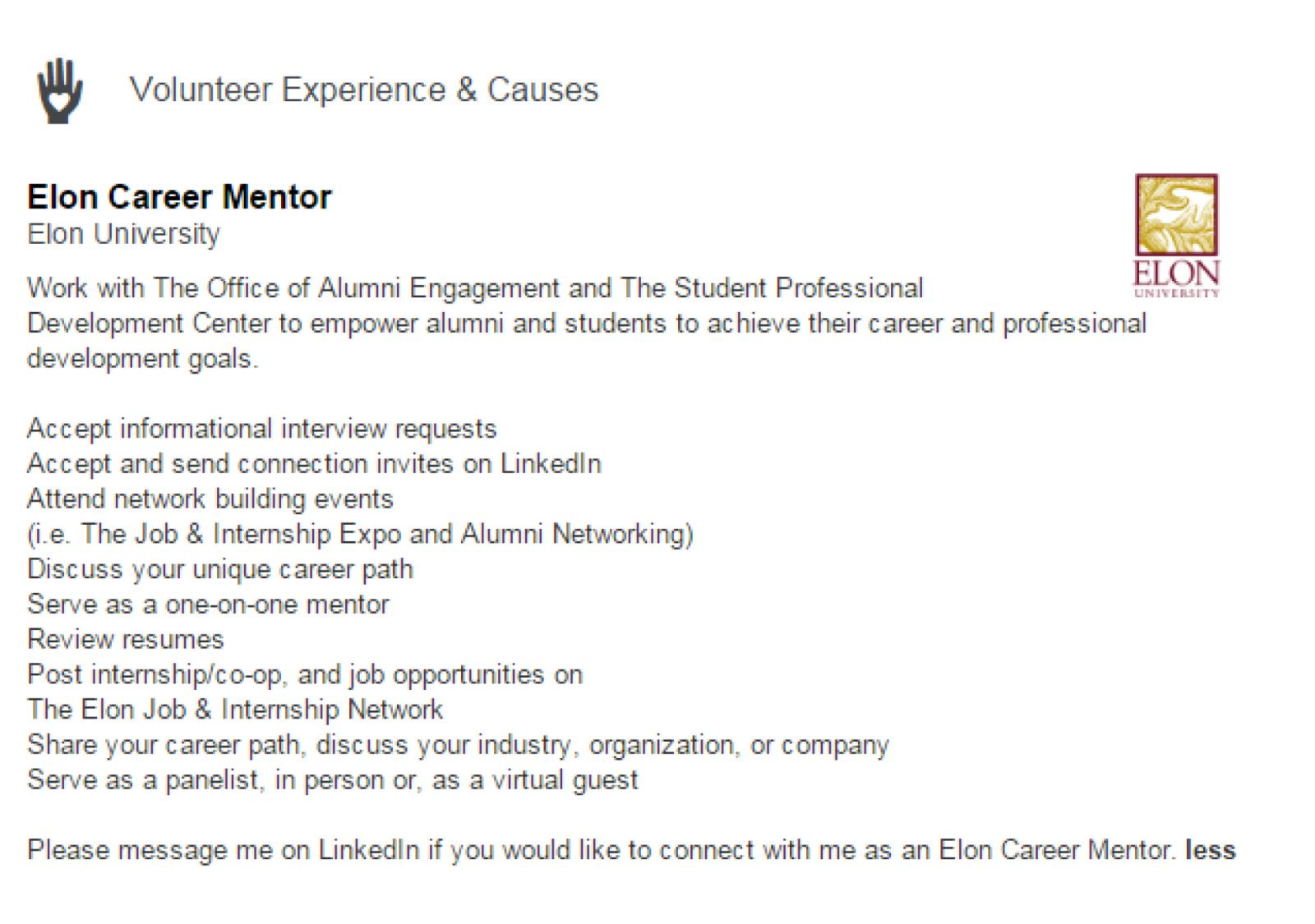career mentors on linkedin prepare a few information interview questions conduct the interview submit a summary of interview questions and answers to careerservices edu