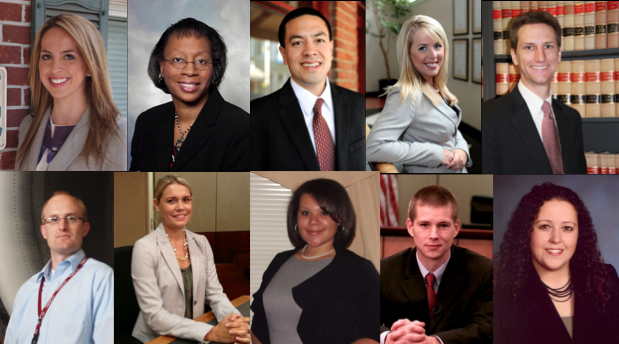 ten Elon Law alumni head shots