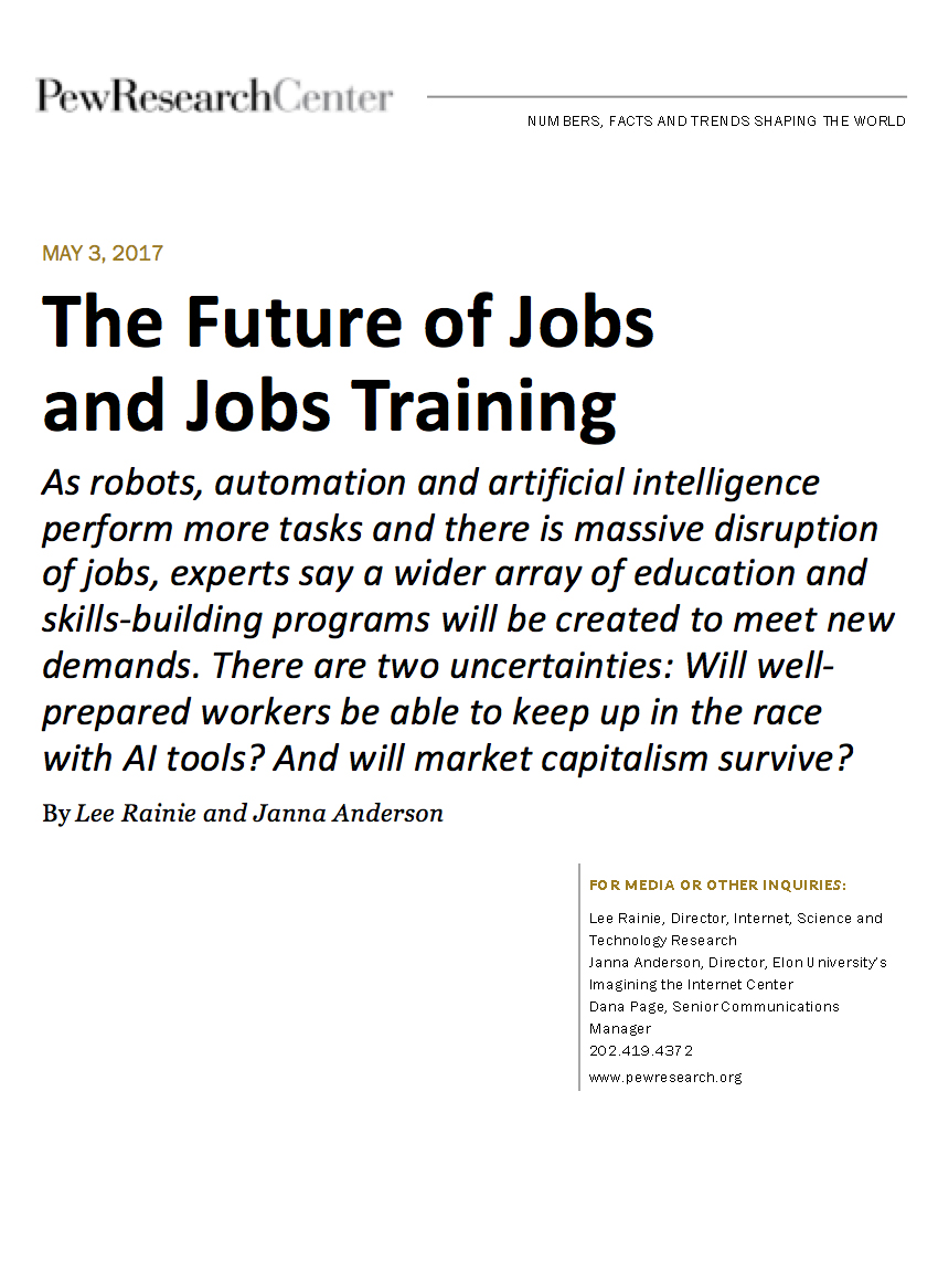 How will people prepare to do the work of the 21st century? Will  well-prepared workers be able to keep up in the race with AI?