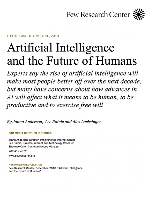 The 2018 Survey AI And The Future Of Humans
