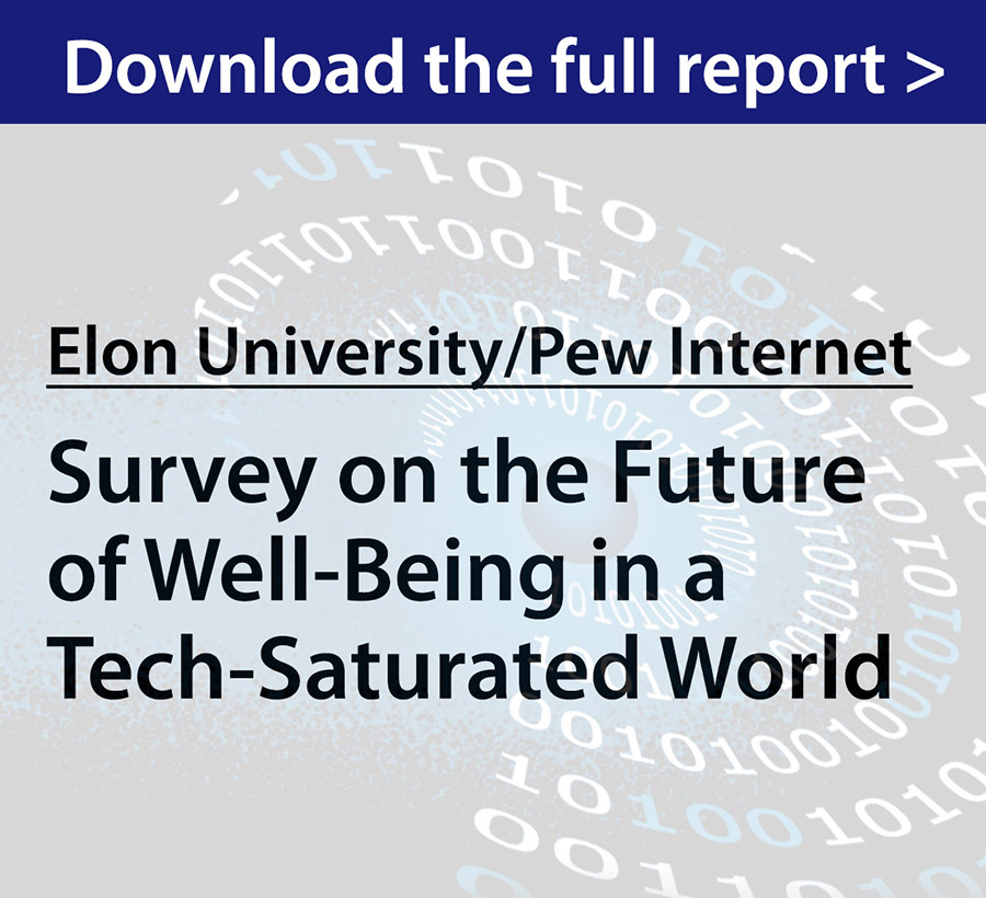 0a1a95917d4ed Results released spring 2018 - To illuminate current attitudes about the  potential impacts of digital life on individuals  well-being in the next  decade and ...