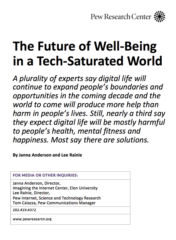 The 2018 Survey: Digital Life and Well-Being