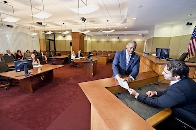 The Robert E. Long Courtroom at Elon Law