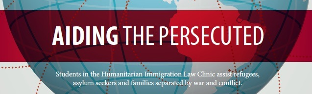 Title image picture of globe for 2013 annual report feature on humanitarian immigration law clinic