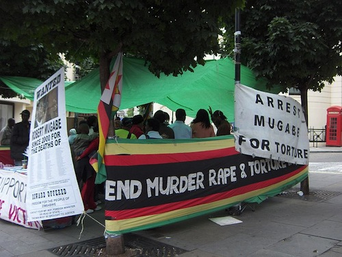 anti Mugabe demonstration