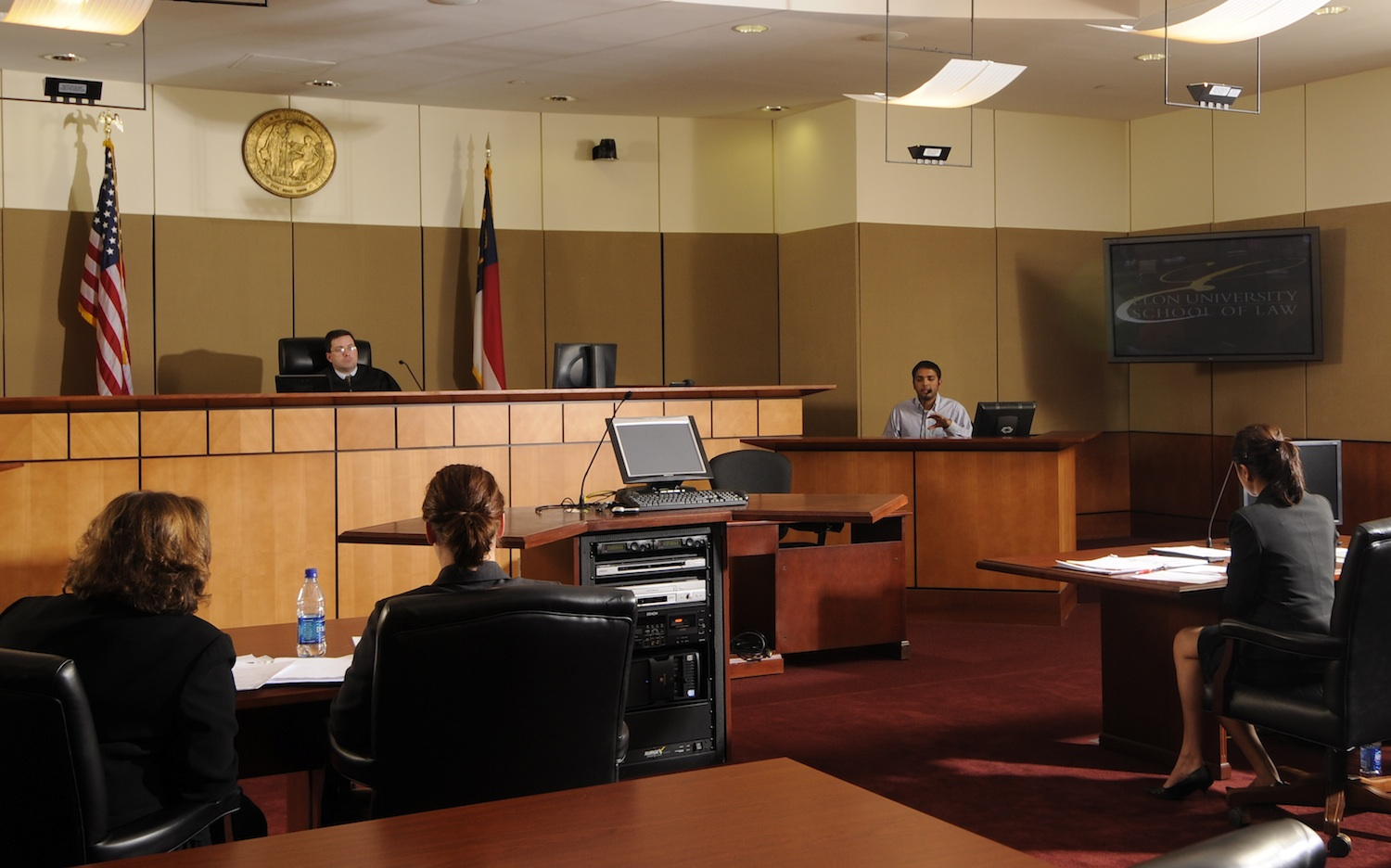 Elon Law students engaged in trial practice