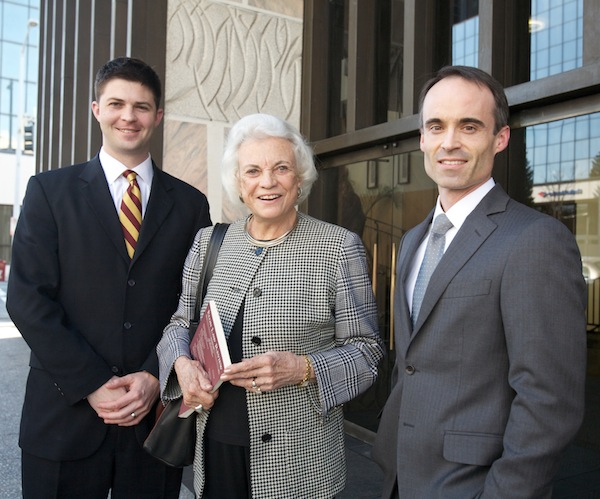 Justice O'Connor with Elon Law students