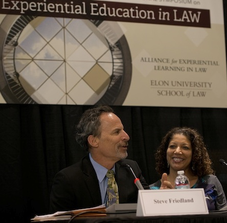 Steve Friedland and Olympia Duhart at Elon Law symposium