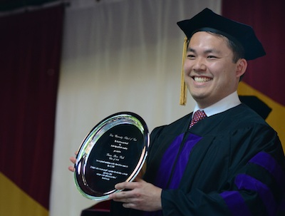 Brian Park L'14, recipient of the Gergen Award, 2014
