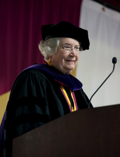 Elon University honorary degree recipient Gail McMichael Lane
