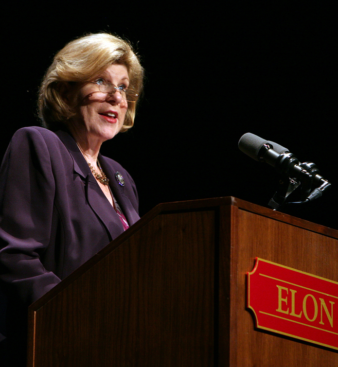Nina Totenberg delivers Elon Law Bryan Leadership Lecture, Spring 2010