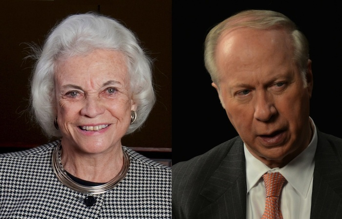Justice Sandra Day O'Connor and David Gergen at Elon Law
