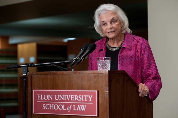 The Honorable Sandra Day O'Connor at Elon University School of Law in 2012