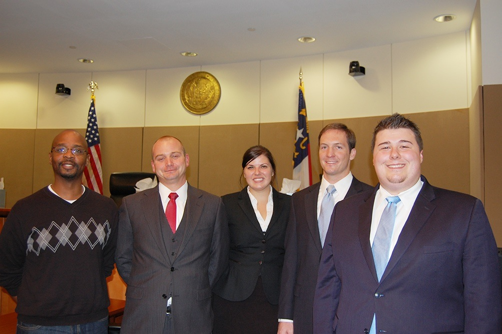 2012 intramural moot court champions at Elon Law