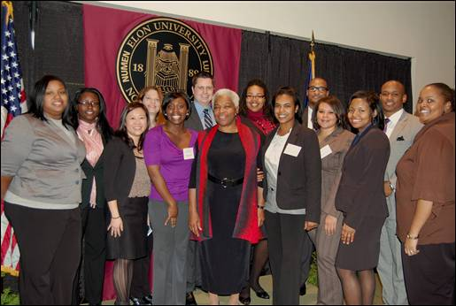 Members of Elon Law's Black Law Students Association and Phi Alpha Delta