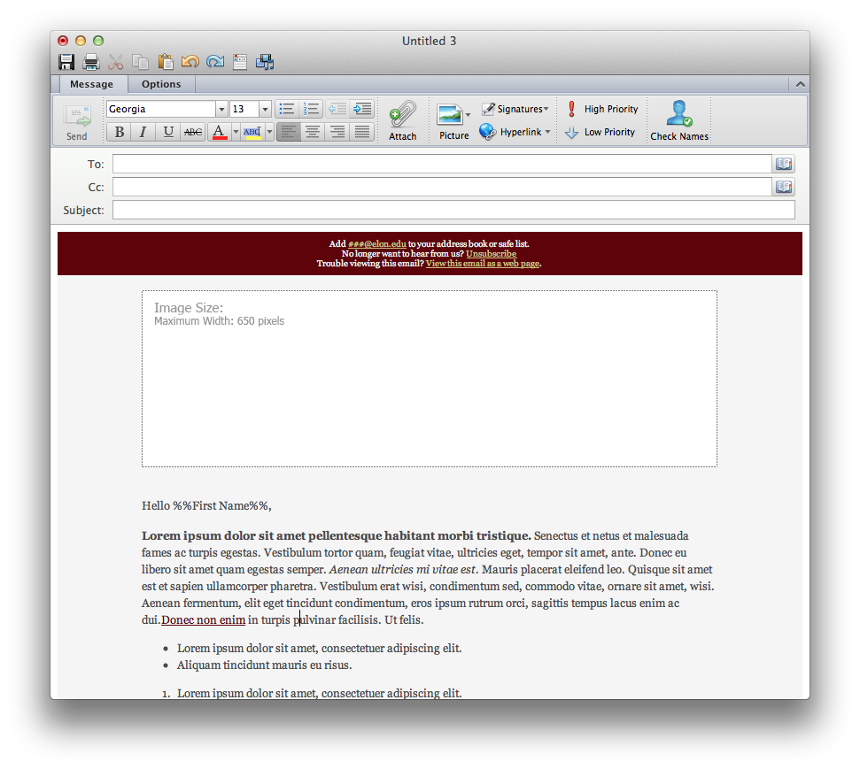 Instructions for email template microsoft outlook 2011 for mac open up the email template maxwellsz