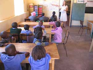Teaching in Namibia