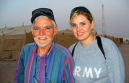 Alexandra Hemmerly-Brown and father in Kuwait