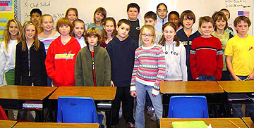 Elon Elementary students