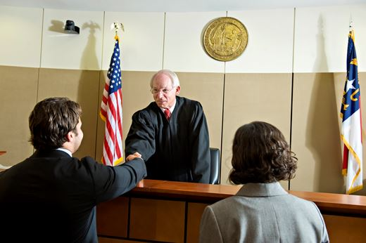 Judge Gale, North Carolina Business Court meets Elon Law students
