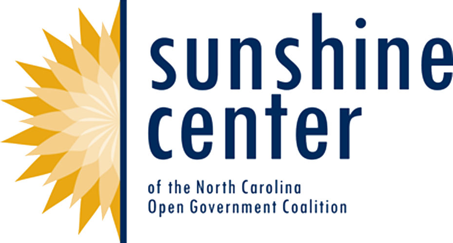 Sunshine center of the North Carolina Open Government Coalition