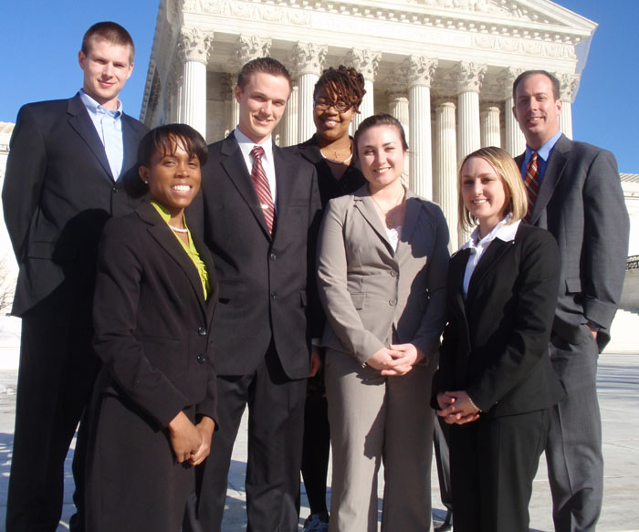 Elon Law students at ABA Moot Court in DC