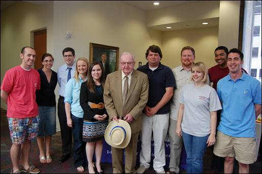 US Rep. Howard Coble with Elon Law students April 7, 2010