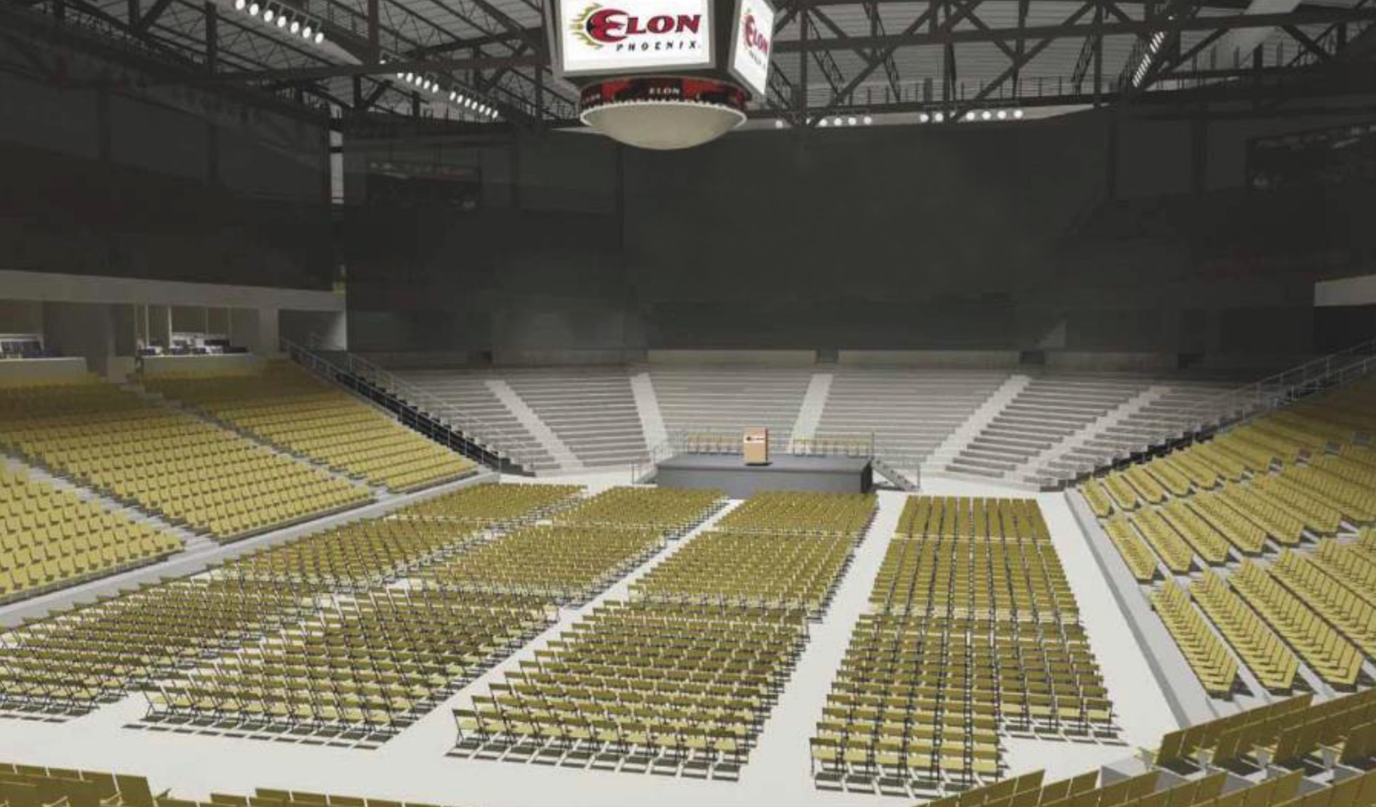 Rendering of the multipurpose convocation center