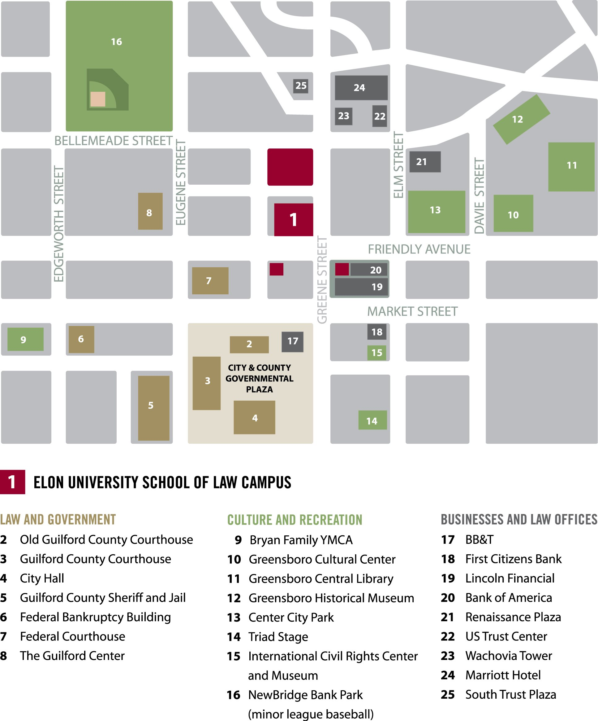 Main campus map screenshot