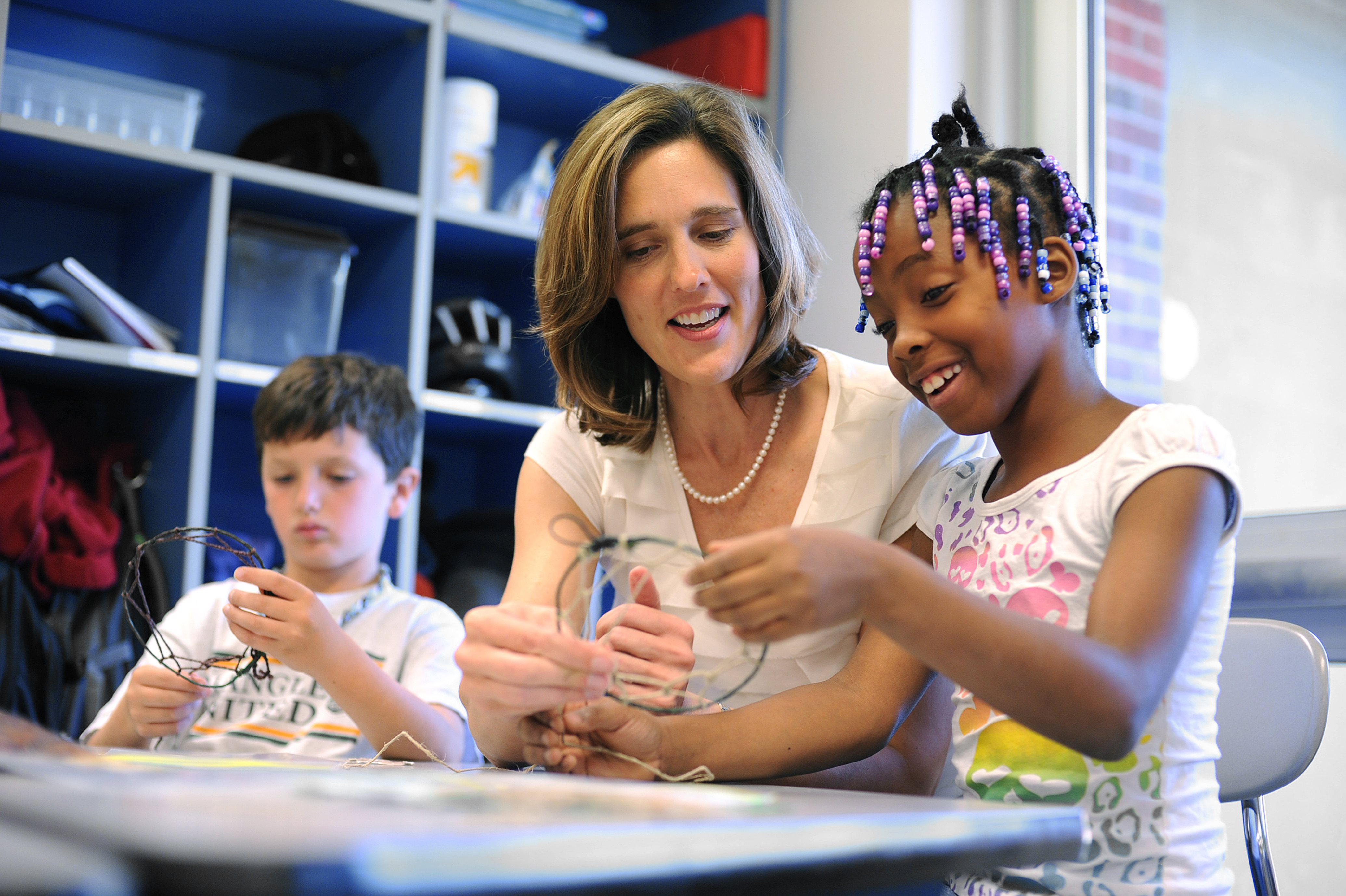 Kim Mellor, M.Ed. alumnus, teaches second grade at McDougle Elementary in Chapel Hill.