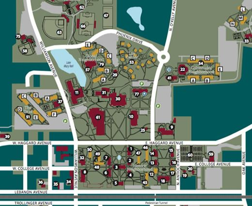 Elon University About Campus Maps – Map University