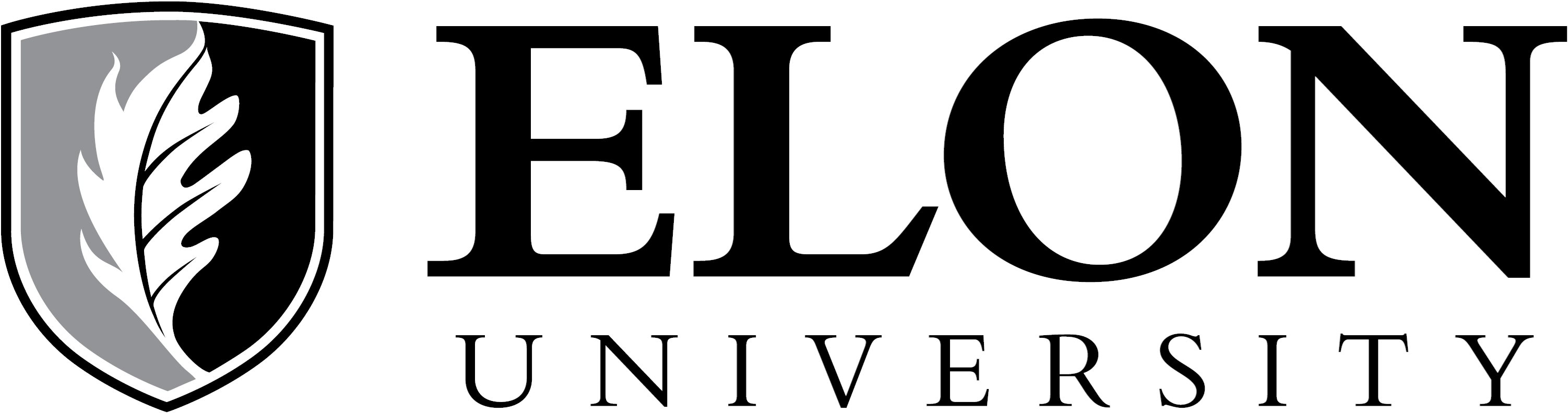 Elon University primary signature one-color example