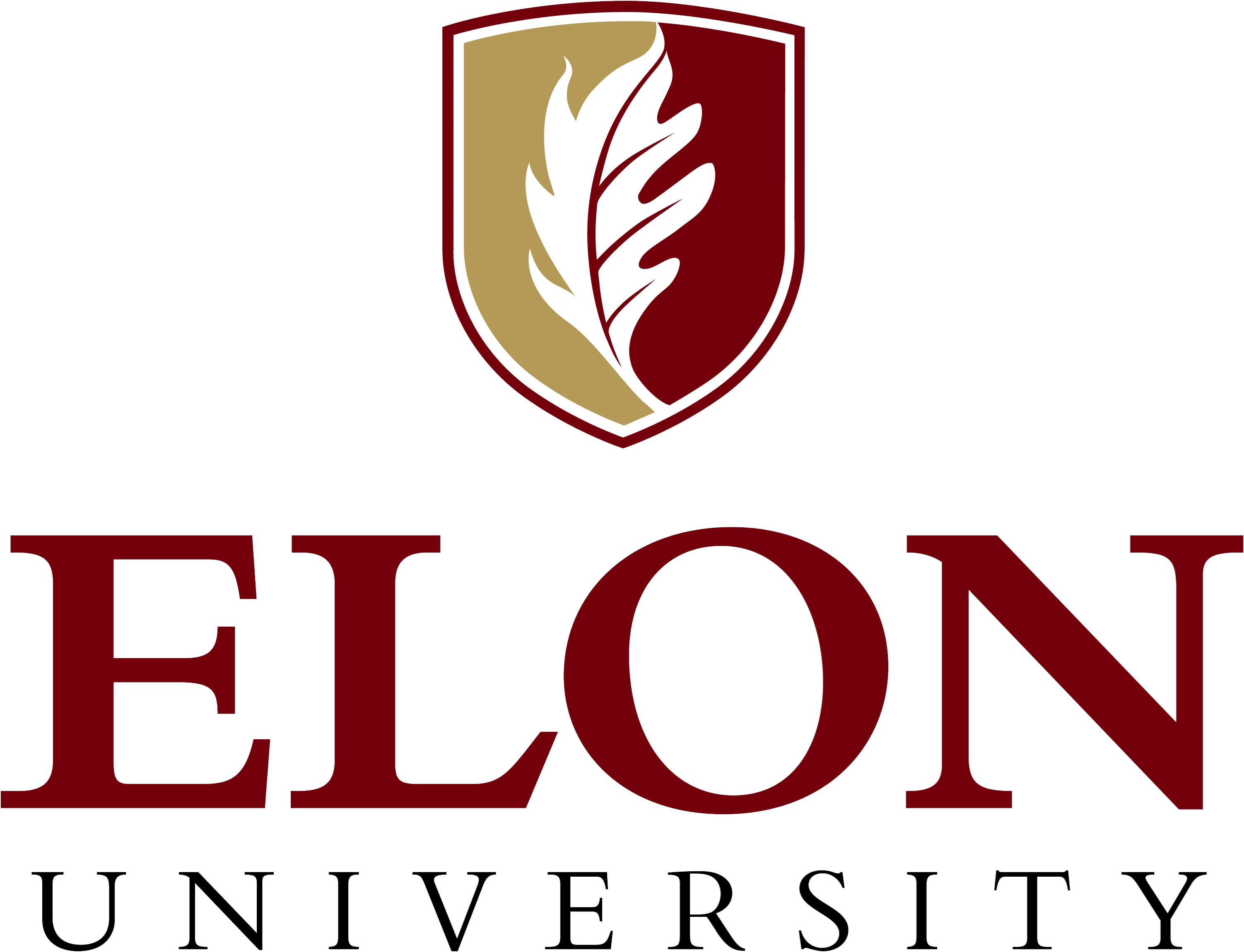 Elon University primary signature centered example