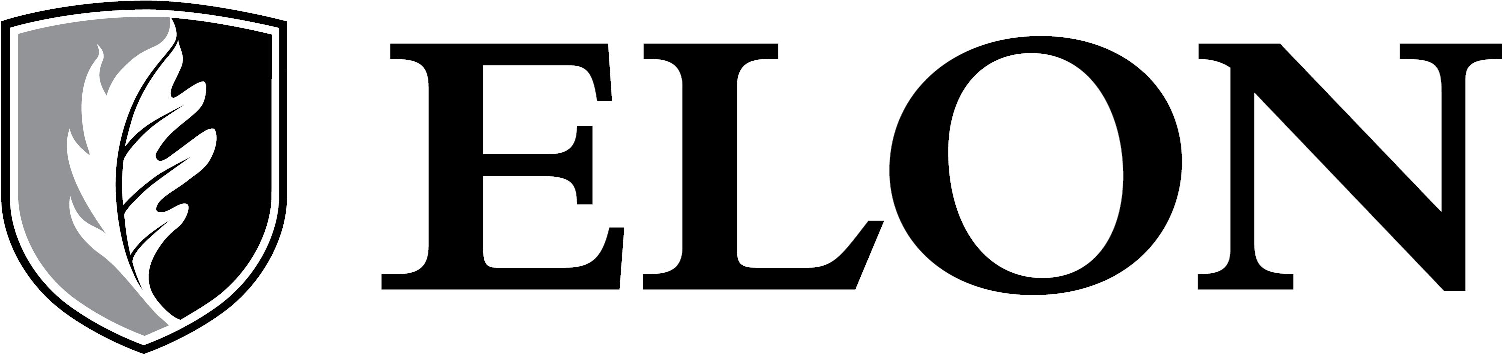 Elon University secondary signature one-color example