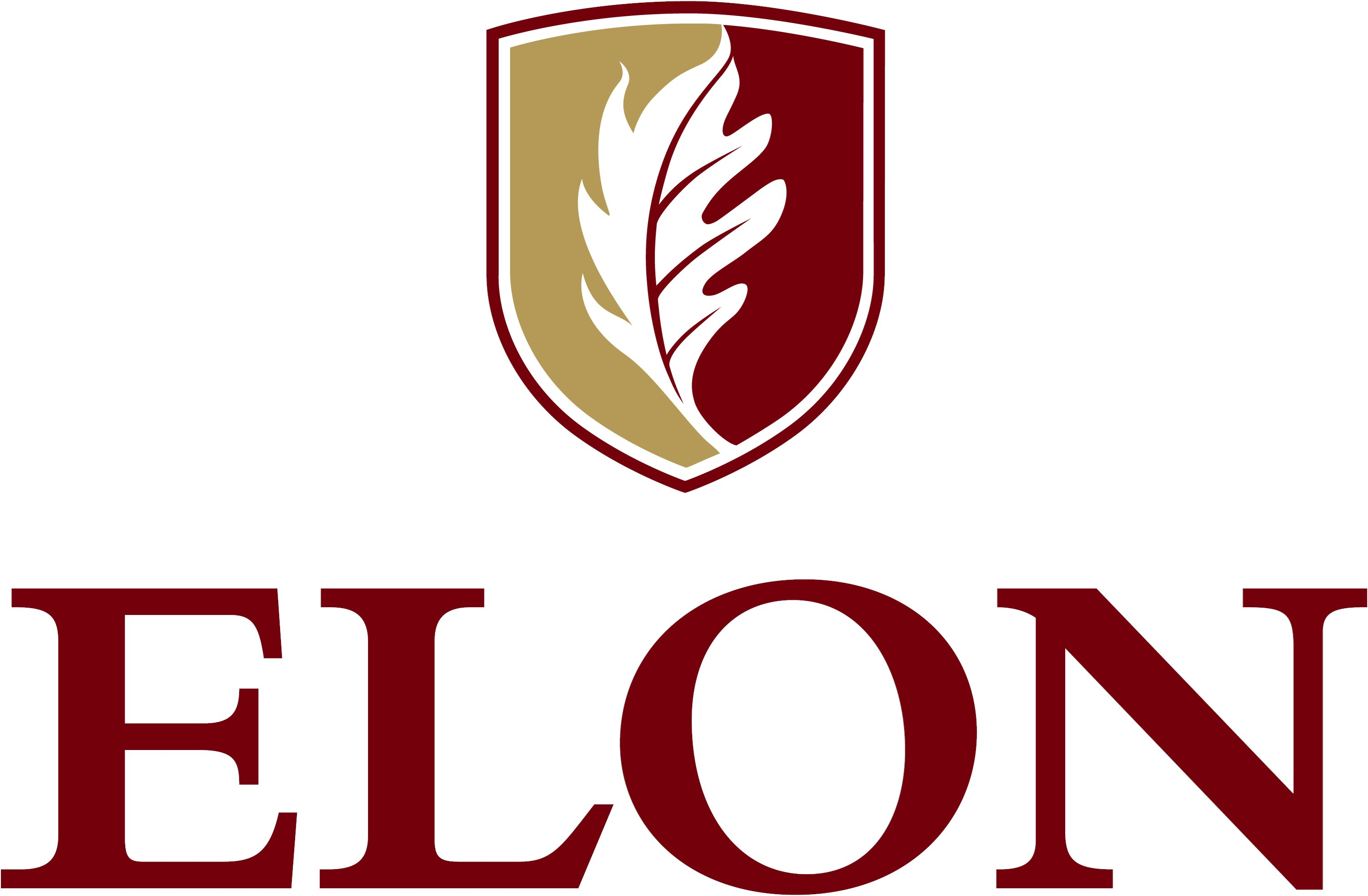 Elon University secondary signature centered example