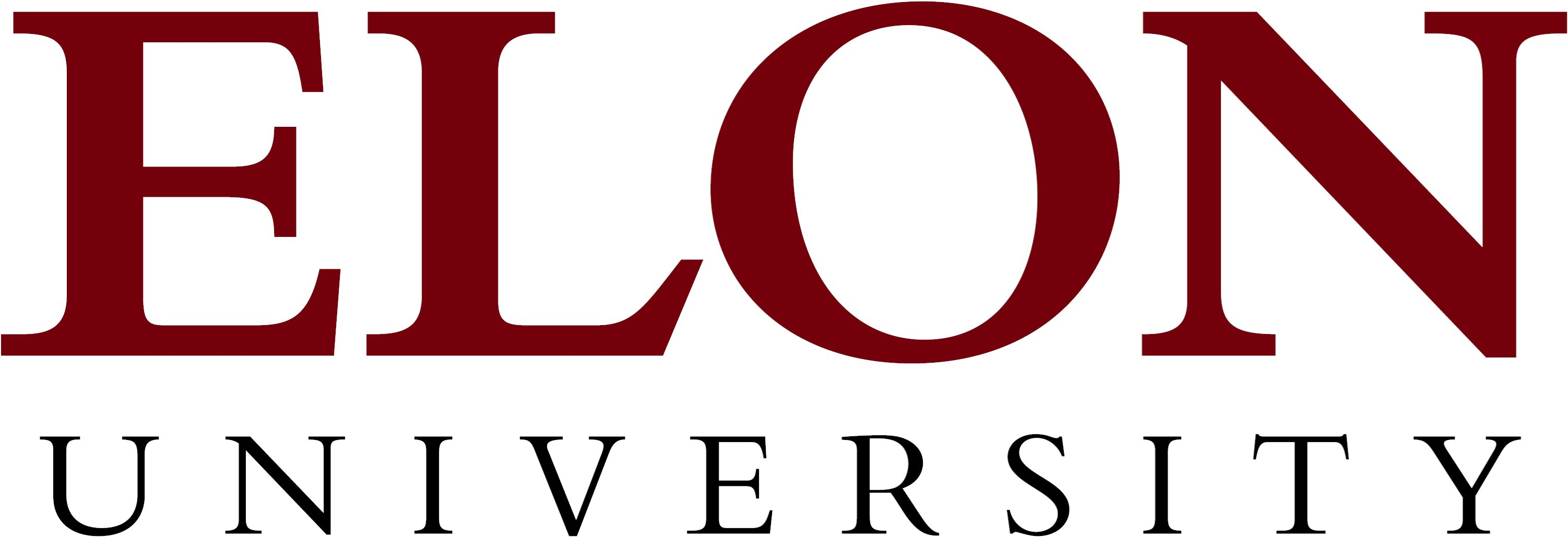 Elon University primary wordmark example