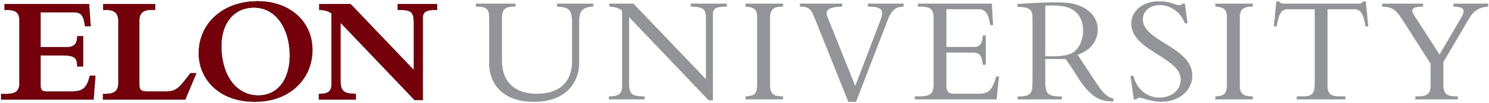 Elon University primary wordmark one-line example