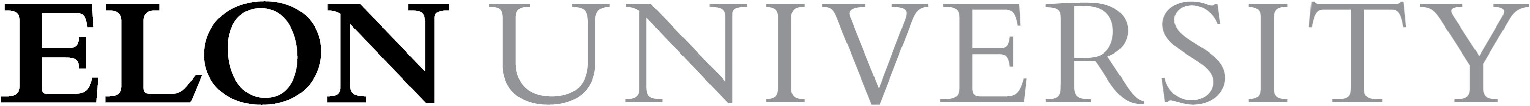 Elon University primary wordmark one-line one-color example