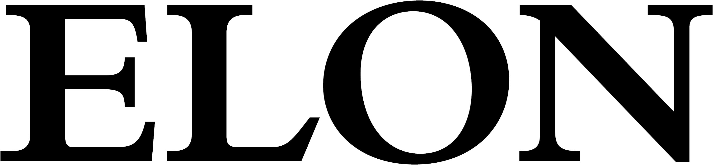 Elon University secondary wordmark black example