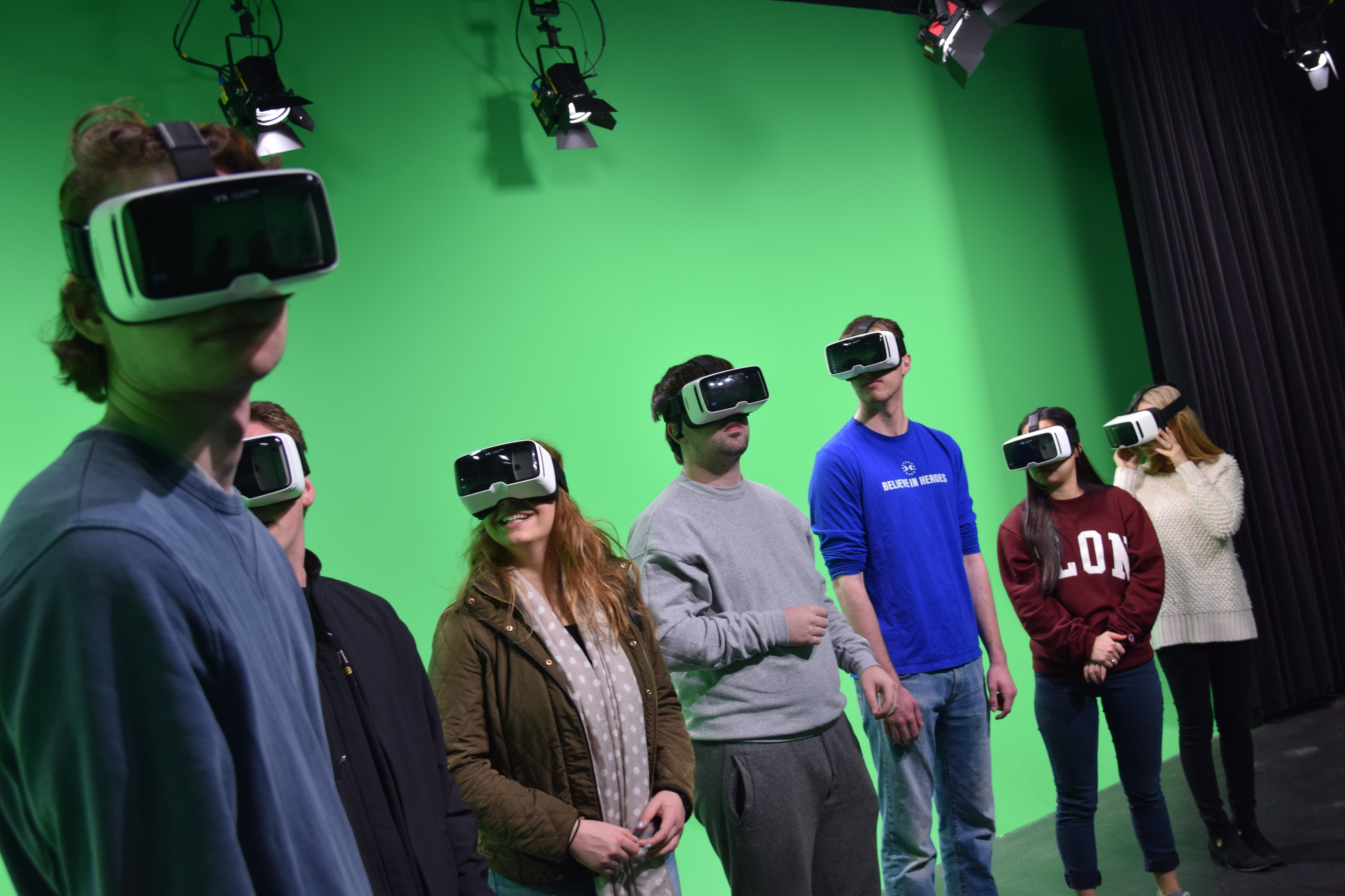 Students use the virtual studio.